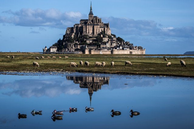 A picture taken on September 02, 2019 shows the Mont-Saint-Michel, northwestern France. (Photo by Joel Saget/AFP Photo)