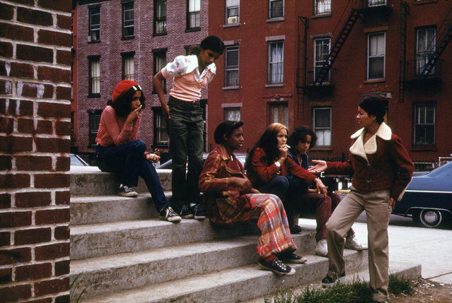 Latin Youths at Lynch Park in Brooklyn, in June of 1974. (Photo by Danny Lyon/NARA via The Atlantic)