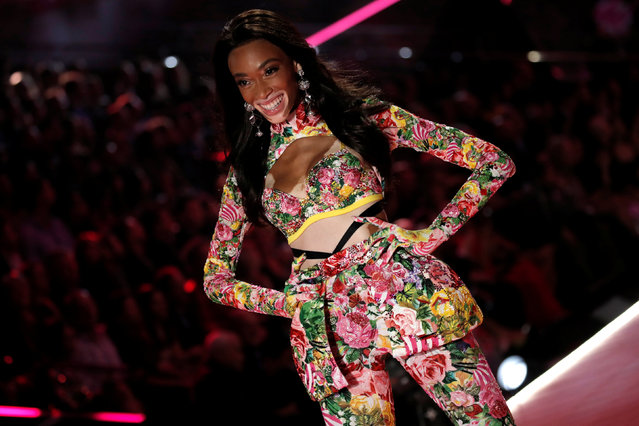 Model Winnie Harlow presents a creation during the 2018 Victoria's Secret Fashion Show in New York City, New York, U.S., November 8, 2018. (Photo by Mike Segar/Reuters)