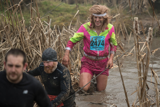 Competitors take part in the Tough Guy endurance event near Wolverhampton, central England, on January 27, 2019. (Photo by Oli Scarff/AFP Photo)