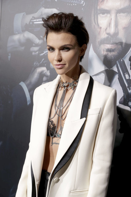 """Ruby Rose seen at Summit Entertainment, a Lionsgate Company, Los Angeles Premiere of """"John Wick Chapter 2"""" at ArcLight Hollywood on Monday, January 30, 2017, in Los Angeles. (Photo by Eric Charbonneau/Invision for Lionsgate/AP Images)"""