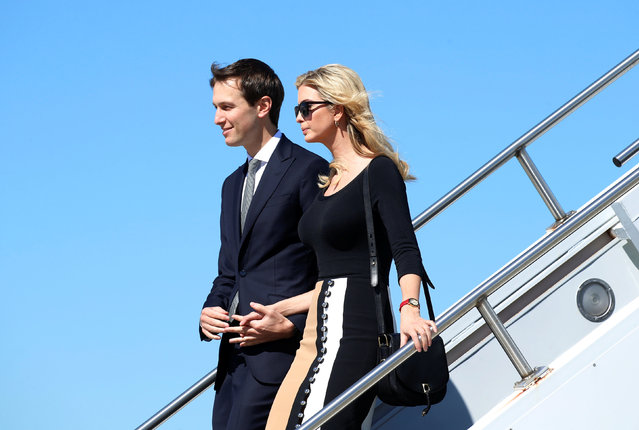 Ivanka Trump and Jared Kushner arrive on Air Force One to accompany U.S. President Donald Trump for his tour of the Boeing South Carolina facility in North Charleston, South Carolina, U.S. February 17, 2017. (Photo by Kevin Lamarque/Reuters)