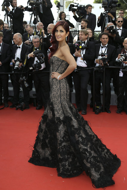 Katrina Kaif arrives for the opening ceremony and the screening of the film La Tete Haute (Standing Tall) at the 68th international film festival, Cannes, southern France, Wednesday, May 13, 2015. (Photo by Joel Ryan/Invision/AP Photo)