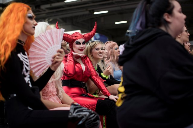 Attendees react during DragWorld UK 2019 convention at the Olympia in London, Britain, August 18, 2019. (Photo by Simon Dawson/Reuters)