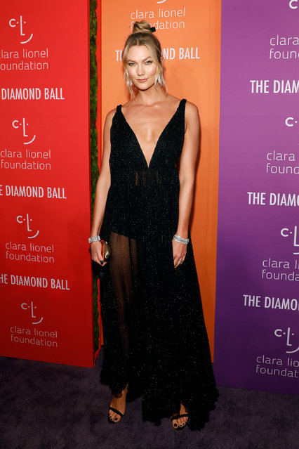 Karlie Kloss attends the 5th Annual Diamond Ball benefiting the Clara Lionel Foundation at Cipriani Wall Street on September 12, 2019 in New York City. (Photo by Taylor Hill/WireImage)