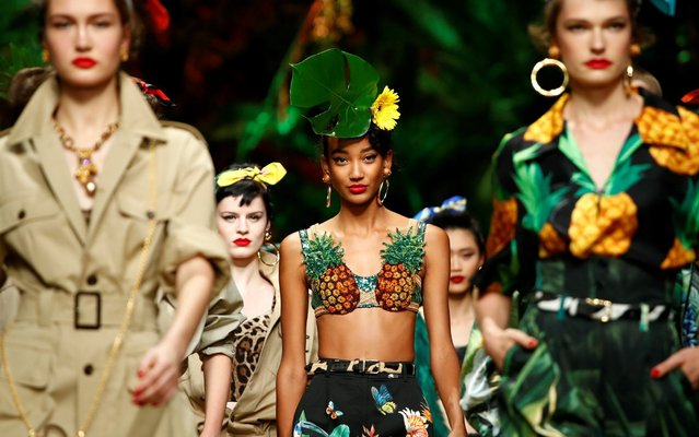 Models present creations from the Dolce & Gabbana Spring/Summer 2020 collection during fashion week in Milan, Italy, September 22, 2019. (Photo by Alessandro Garofalo/Reuters)