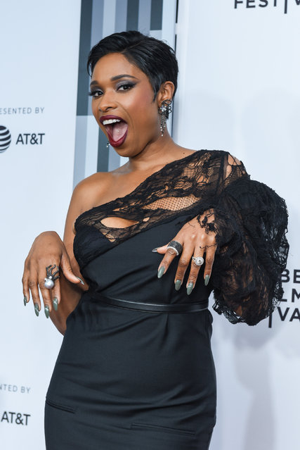 """Jennifer Hudson attends 2017 Tribeca Film Festival – """"Clive Davis: The Soundtrack Of Our Lives"""" World Premiere – Opening Night at Radio City Music Hall on April 19, 2017 in New York City. (Photo by Presley Ann/Patrick McMullan via Getty Images)"""