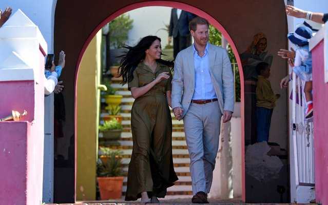 The Duke and Duchess of Sussex, Prince Harry and his wife Meghan, attend Heritage Day public holiday celebrations in the Bo Kaap district of Cape Town, South Africa, September 24, 2019. (Photo by Toby Melville/Pool via Reuters)