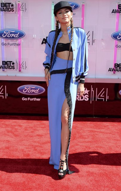 Zendaya arrives at the 2014 BET Awards in Los Angeles, California June 29, 2014. (Photo by Kevork Djansezian/Reuters)