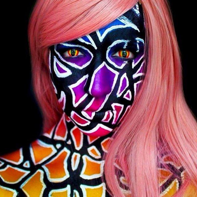 Stephanie Fernandez's mind-blowing make-up art. (Photo by Instagram.com)