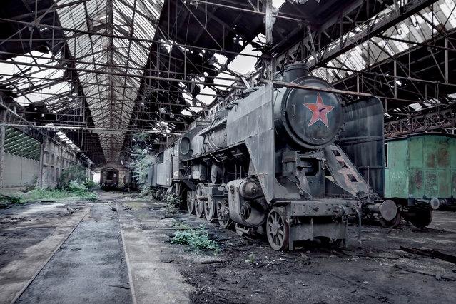 Hungary, MAV 424 Steam Train. (Photo by Rebecca Bathory)