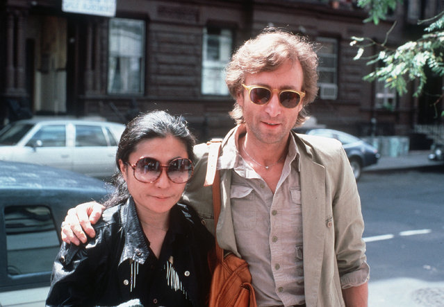 John Lennon and his wife, Yoko Ono, arrive at The Hit Factory, a recording studio in New York City on August 22, 1980. (Photo by Steve Sands/AP Photo)