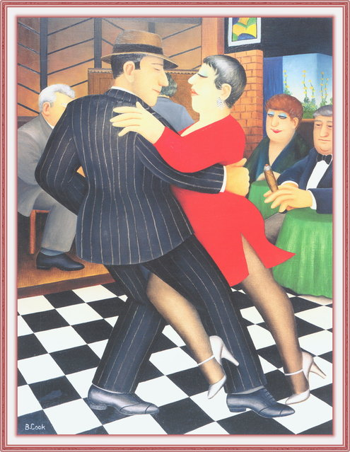 Tango Bar. Artwork by Beryl Cook