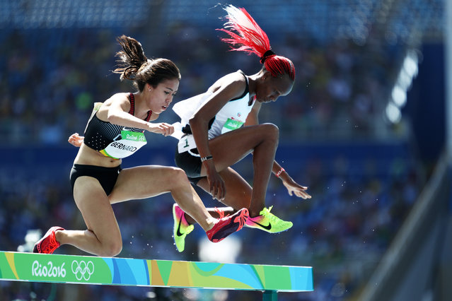 Maria Bernard of Canada  competes in the Women's 3000m Steeplechase Round 1 on Day 8 of the Rio 2016 Olympic Games at the Olympic Stadium on August 13, 2016 in Rio de Janeiro, Brazil. (Photo by Paul Gilham/Getty Images)