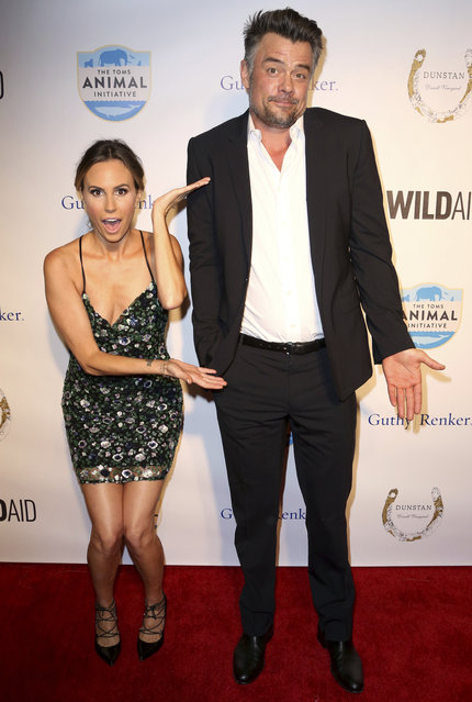 "Keltie Knight, left, and Josh Duhamel arrive at ""An Evening with WildAid"" event at the Beverly Wilshire hotel on Saturday, November 11, 2017, in Beverly Hills, Calif. (Photo by Willy Sanjuan/Invision/AP Photo)"