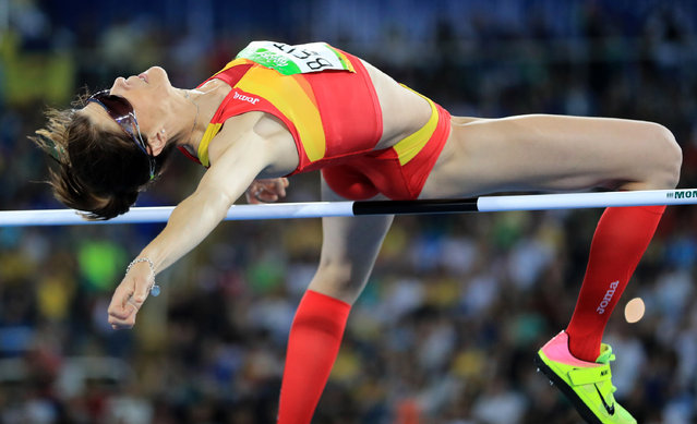 2016 Rio Olympics, Athletics, Final, Women's High Jump Final, Olympic Stadium, Rio de Janeiro, Brazil on August 20, 2016. Ruth Beitia (ESP) of Spain competes. (Photo by Dominic Ebenbichler/Reuters)