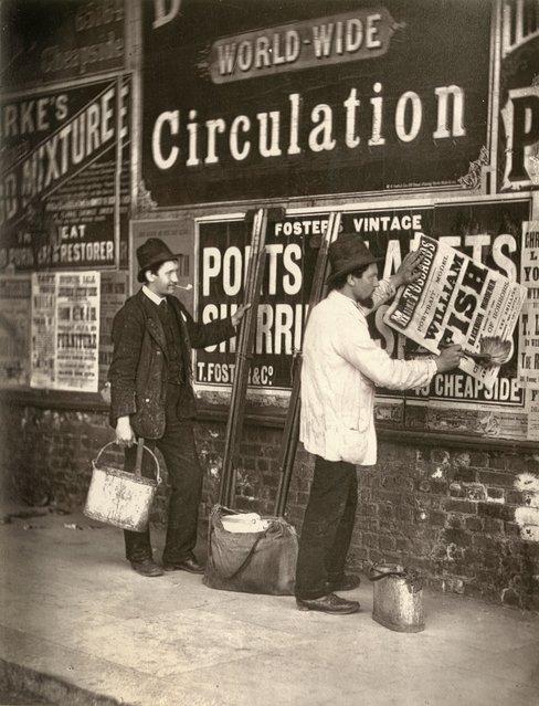 Advertising. (Photo by John Thomson/LSE Digital Library)