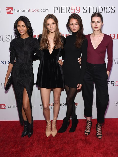 Models attend the Pier 59 Studios 20th Anniversary Party at Pier 59 Studios on October 27, 2015 in New York, New York. (Photo by Jamie McCarthy/Getty Images)