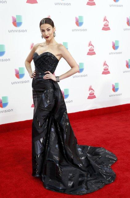Actress Nastassja Bolivar arrives at the 17th Annual Latin Grammy Awards in Las Vegas, Nevada, U.S., November 17, 2016. (Photo by Steve Marcus/Reuters)