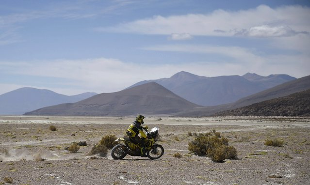 Stefan Svitko of Slovakia rides his KTM during the sixth stage in the Dakar Rally 2016 near Uyuni, Bolivia, January 8, 2016. (Photo by Frank Fife/Reuters)