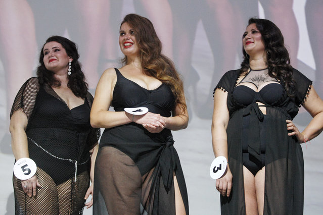 """Contestants seen during the """"Miss Ukraine Plus Size"""" beauty pageant in Kiev, Ukraine on October 29, 2018. (Photo by Pavlo Gonchar/SOPA Images via ZUMA Wire)"""