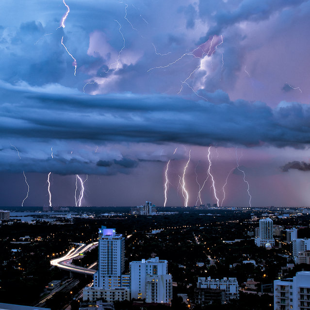 """Homestead / Keys lightning"". Miami, 2012. (Photo by lostINmia)"