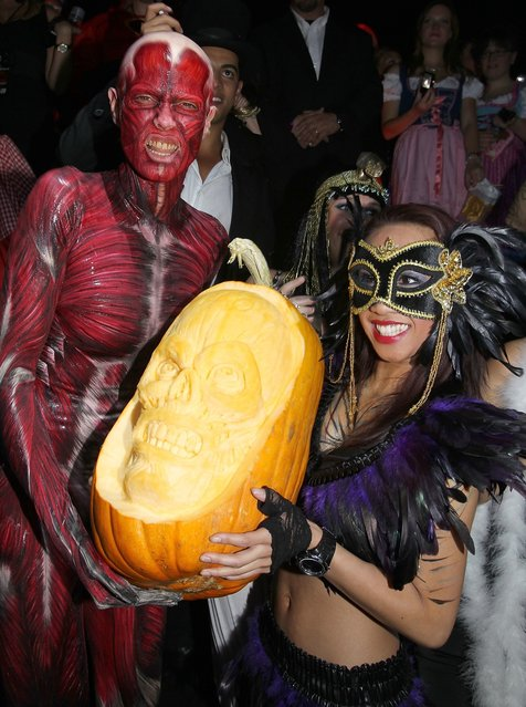 Heidi Klum attends her 12th Annual Halloween Party at TAO Nightclub at the Venetian on October 29, 2011 in Las Vegas, Nevada. (Photo by Chris Weeks/WireImage)