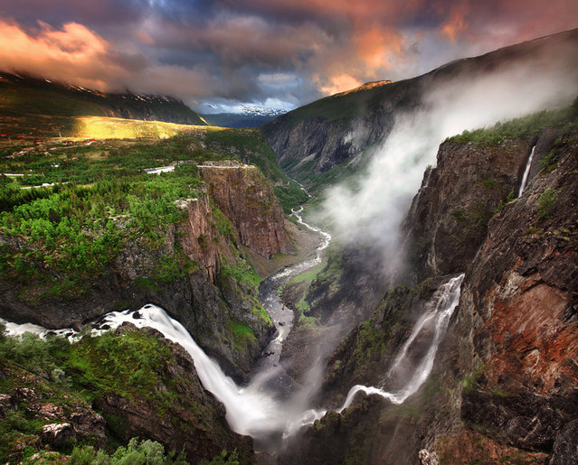 Voringfossen Waterfall In Norway