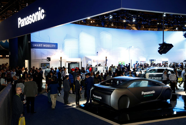 A view of the Panasonic booth is shown during the 2017 CES in Las Vegas, Nevada, January 5, 2017. (Photo by Steve Marcus/Reuters)