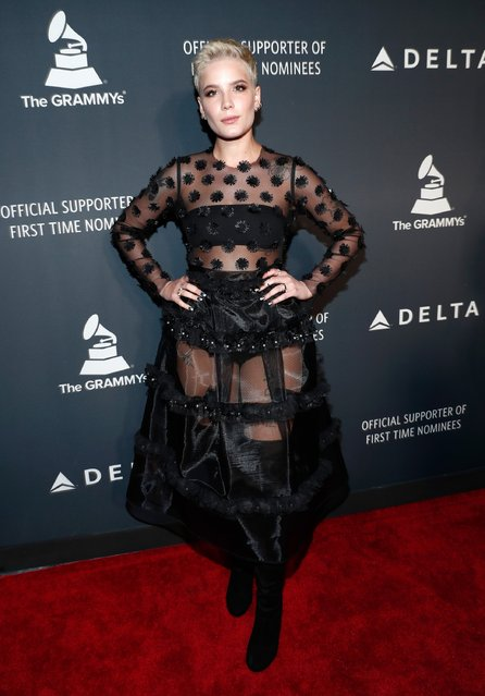 Singer Halsey performs onstage at the Delta Air Lines official Grammy event featuring private performance and interactive evening with Halsey at Beauty & Essex, adjacent to the new Dream Hollywood to celebrate the 59th Annual GRAMMY Awards on February 9, 2017 in Los Angeles, California. (Photo by Rich Polk/Getty Images for Delta Air Lines)