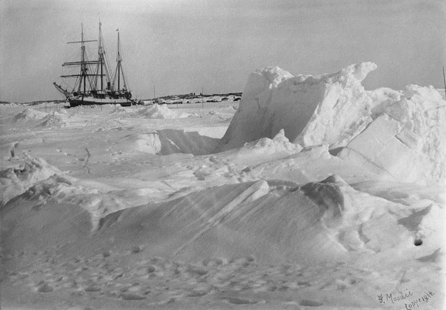 """Words cannot describe this wonderful coast, apparantly (apparently) devoid of everything that goes to make a land attractive, it still has a grandeur and beauty all its own"", she wrote in her diary. Here: DGS Arctic frozen in the ice, Fullerton Harbour, Nunavut, April 1905. (Photo by Geraldine Moodie/The Guardian)"