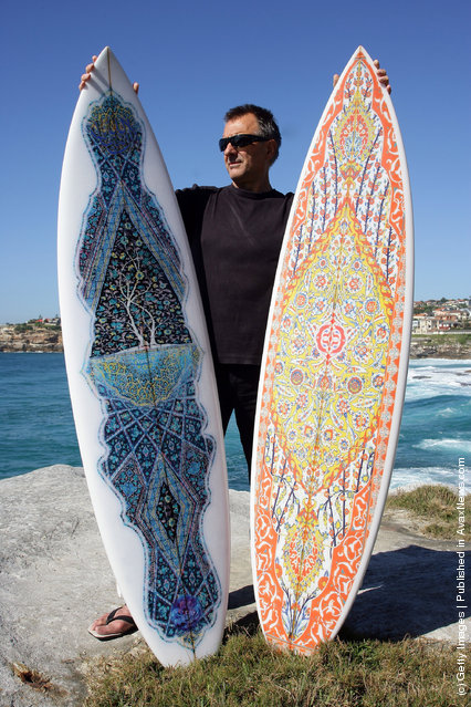 Sydney Artist Exhibits Islamic Inspired Surfboards