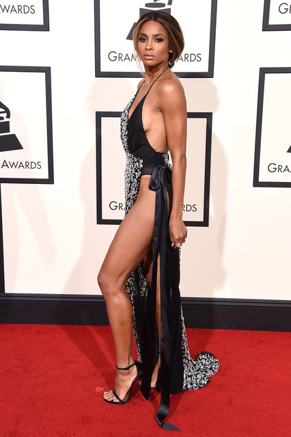 Recording artist Ciara attends The 58th GRAMMY Awards at Staples Center on February 15, 2016 in Los Angeles, California. (Photo by Steve Granitz/WireImage)