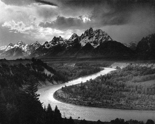 """The Tetons–Snake River"" Wyoming, 1942. (Photo by Ansel Adams)"