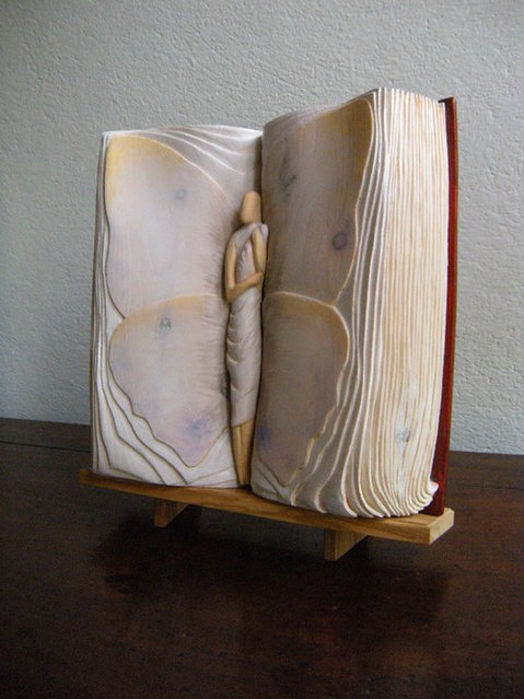 Wooden Book By Nino Orlandi