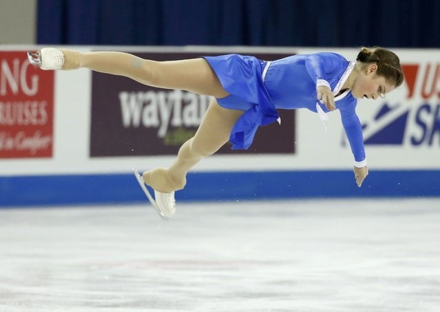 Julia Lipnitskaia of Russia performs during the ladies free skating program at the Skate America figure skating competition in Milwaukee, Wisconsin October 24, 2015. (Photo by Lucy Nicholson/Reuters)