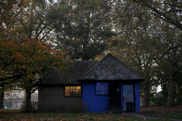 A public toilet is seen in London Fields in east London, Britain October 31, 2015. (Photo by Marika Kochiashvili/Reuters)