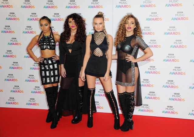 Leigh-Anne Pinnock, Jesy Nelson, Perrie Edwards and Jade Thrillwall of Little Mix attend the BBC Music Awards at Genting Arena on December 10, 2015 in Birmingham, England. (Photo by Eamonn M. McCormack/Getty Images)