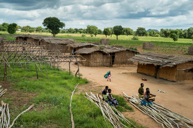 The tobacco farm and village. Workers live in straw huts for 10 months while they work on the farm. The tobacco firms say they are doing all they can to stop exploitative child labour in their supply chains. (Photo by David Levene/The Guardian)