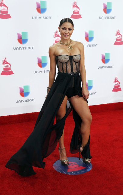 Recording artist Yeini arrives at the 17th Annual Latin Grammy Awards in Las Vegas, Nevada, U.S., November 17, 2016. (Photo by Steve Marcus/Reuters)