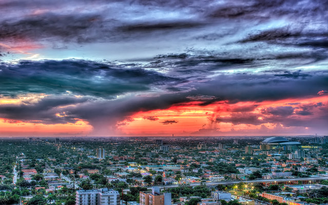 """""""Sunset the day before tropical storm Isaac"""". Miami, 2012. (Photo by lostINmia)"""