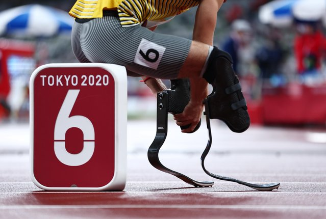 Gold Medallist Johannes Floors of Germany before the men's 400m final during athletics at the Tokyo Paralympics, Tokyo Olympic Stadium, Tokyo, Japan on September 3, 2021. (Photo by Thomas Peter/Reuters)