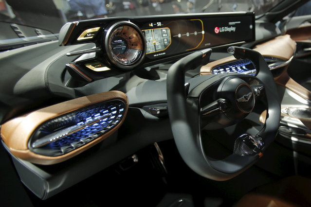 The 2017 Genesis New York Concept is seen during the media preview of the 2016 New York International Auto Show in Manhattan, New York on March 23, 2016. (Photo by Eduardo Munoz/Reuters)