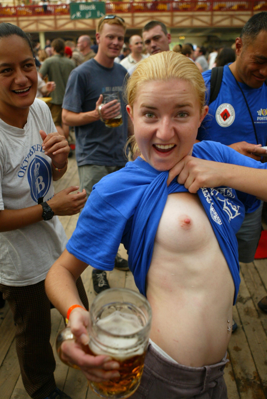 Drunk topless german girls