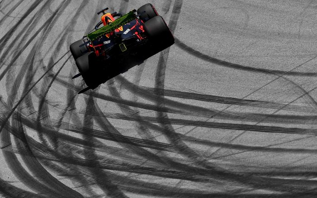 Red Bull Racing's Dutch driver Max Verstappen races during the third practice session of the Austrian Formula One Grand Prix in Spielberg on June 29, 2019. (Photo by Joe Klamar/AFP Photo)