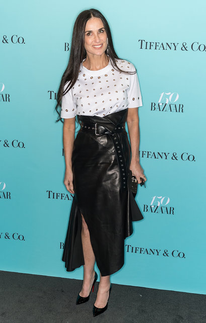 Actress Demi Moore attends Harper's BAZAAR 150th Anniversary Event presented with Tiffany & Co at The Rainbow Room on April 19, 2017 in New York City. (Photo by Gilbert Carrasquillo/FilmMagic)