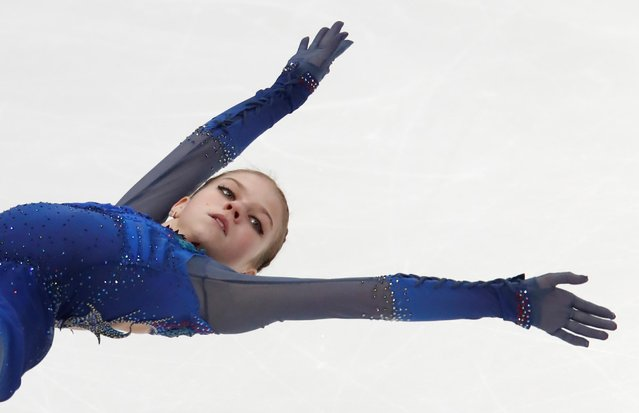 Alexandra Trusova of Russia competes in the Ladies Free Skating during day 2 of the ISU Grand Prix of Figure Skating Rostelecom Cup at Megasport Arena on November 16, 2019 in Moscow, Russia. (Photo by Maxim Shemetov/Reuters)