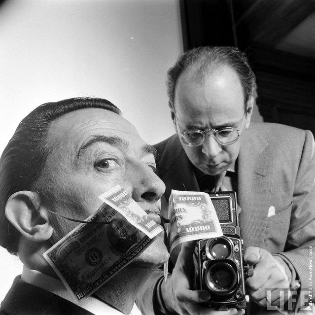 Phillipe Halsman Looks At Salvador Dali, 1954. Photo by Philippe Halsman