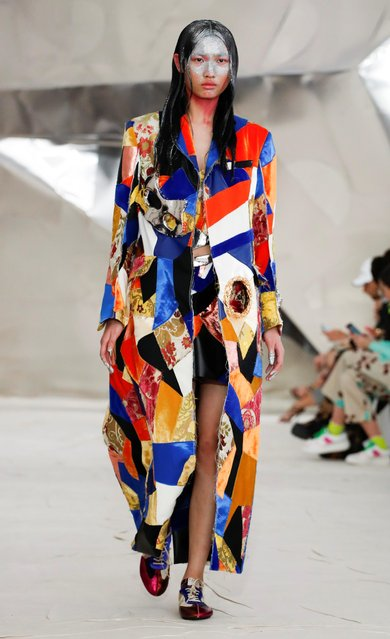 A model presents a creation from the Marni Autumn/Winter 2020 collection during Milan Fashion Week in Milan, Italy, February 21, 2020. (Photo by Alessandro Garofalo/Reuters)