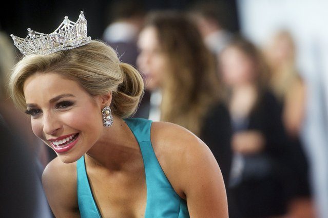 Current Miss America Kira Kazantsev walks the red carpet in Boardwalk Hall, the venue for the 95th Miss America Pageant, that takes place tonight in Atlantic City, New Jersey, September 13, 2015. (Photo by Mark Makela/Reuters)